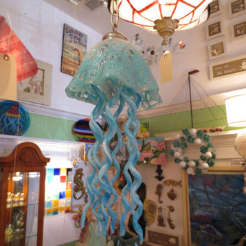 Jellyfish Chandelier - Pendant Light - Lamp - Lighting - Glass Lighting - Hand Blown Glass