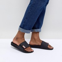 Hunter Original Adjustable Slide in Black at asos.com