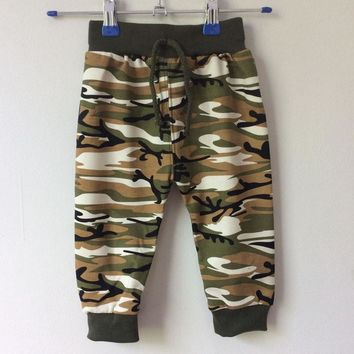 New Fashion Children's Clothing 2016 Kids Boy Gilrs Camouflage Long Pants Children's Sport Camo Cargo Trousers baby boy pants