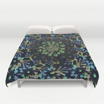 Black Russian Pattern Duvet Cover by Deluxephotos