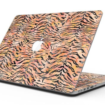 Watercolor Tiger Pattern - MacBook Pro with Retina Display Full-Coverage Skin Kit