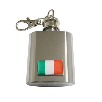 Italy Flag 1 Oz. Stainless Steel Key Chain Flask