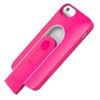 iLuv Selfy Case with Built-in Wireless Camera Shutter for Apple iPhone 5s / iPhone 5 - Carrying Case - Retail Packaging - Hot Pink/White