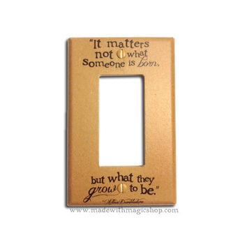 Grow To Be (Brown) - Wizard Inspired Rocker Style Switch Plate
