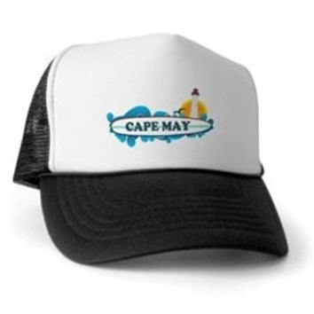 Cape May NJ - Surf Design Trucker Hat> Cape May NJ - Surf Design > Beach Tshirts.