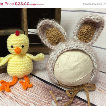 SALE Baby Bunny Hat, Easter Bunny, Photography Prop, Bunny Hat, Easter, Photo Prop, Easter Bunny, Stuffed Toy, Chick, Easter Bonnet, Easter