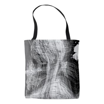 Black And White Modern Geometric Design Tote Bag
