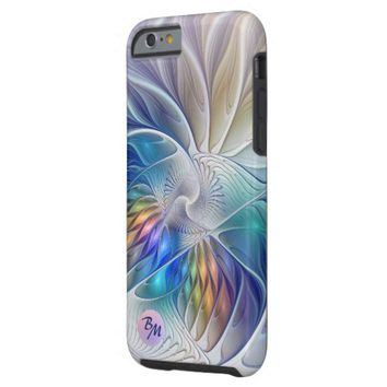 Floral Fantasy, abstract and modern, Monogram Tough iPhone 6 Case