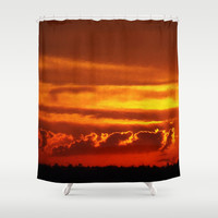 Sunset Layers | Ferntree Gully Shower Curtain by Webgrrl | Society6
