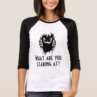 What are you staring at? funny customizable T-Shirt