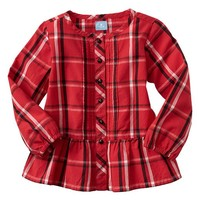 Gap Baby Factory Shirred Plaid Top