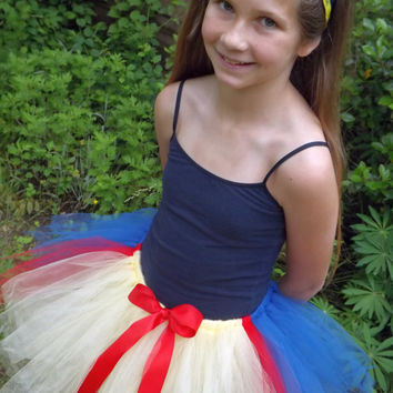 RUN DISNEY -Snow White Halloween TuTu Costume -running race TuTu - Princess TuTu - Disney Princess half race running TuTu