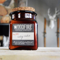 Amber Apothecary Wood Wick Soy Candle