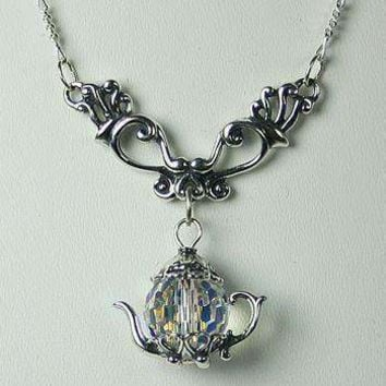 """Victorian Dangle Necklace 19.5"""" with Teapot Charms 13 Styles"""