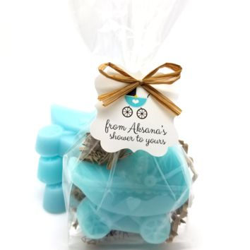 Baby Shower Favors, Rustic Baby Stroller Carriage Soaps, Set of 12