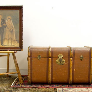 Italy to New York Antique Gazzarrini Trunk by oldnewhouse on Etsy