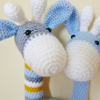 Crochet Amigurumi Giraffe PATTERN ONLY Plush PDF Download Nursery Children  Cute Toy Gift Baby