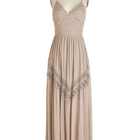 ModCloth Boho Long Spaghetti Straps Maxi Enlightened with Elegance Dress