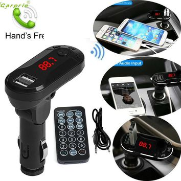 Good Quality Bluetooth Wireless FM Transmitter MP3 Player Handsfree Car Kit USB TF SD With Remote Control Dropship SZ1226