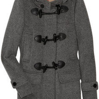 Burberry Brit | Hooded wool-felt duffle coat | NET-A-PORTER.COM