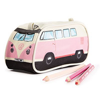 VW Volkswagen T1 Camper Van Pencil Case - Pink - Multiple Color Options Available