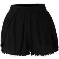 LE3NO Womens Loose Elastic Waist Summer Shorts