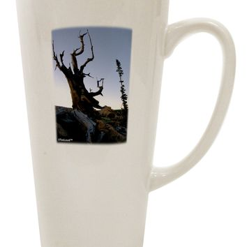 Colorado Mountain Scenery 16 Ounce Conical Latte Coffee Mug by TooLoud