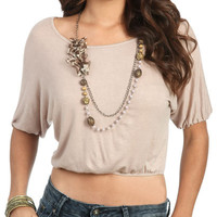 Shimmer Knit Dolman Top | Shop Clearance at Wet Seal