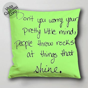 qitem taylor swift pillow case, cushion cover ( 1 or 2 Side Print With Size 16, 18, 20, 26, 30, 36 inch )