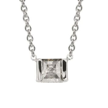 Grey Square Diamond Elyse Necklace