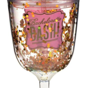 Bachelorette Bash Double-Wall Wine Glass