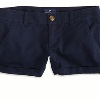 AEO Factory 's O Midi Short (Uniform Navy)