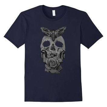 Hand Drawn Sugar Skull Death Moth t-shirt