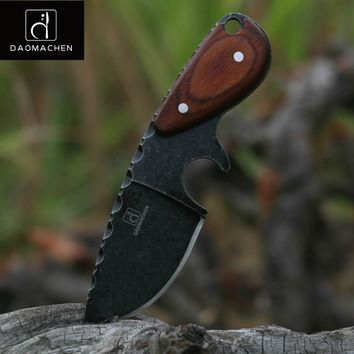 DAOMACHEN tactical hunting knife outdoors camping survive knives multi diving tool & Stone wash blade