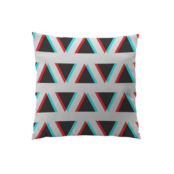 Throw Pillows for Couches / Triangles Anaglyph by Eric Bray