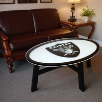 Oakland Raiders Coffee Table (Oak/Black)