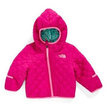 The North Face Infant Girl's 'Perrito' Reversible Water Repellent Hooded Jacket,