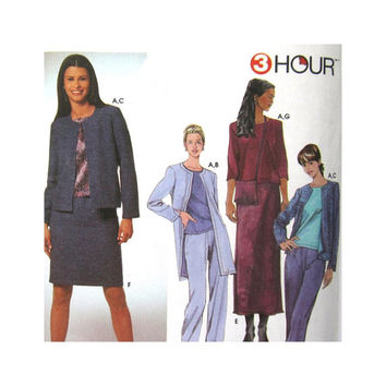 Misses Top, Pants, Jacket Skirt and Bag 3 Hour Sewing Pattern Uncut Simplicity 9399 Sizes 4 6 8 10 Womens Separates