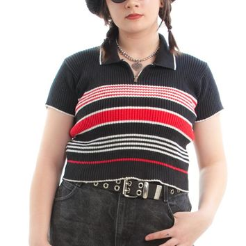 Vintage Y2K Our Time Zip-Neck Top - One Size Fits Many