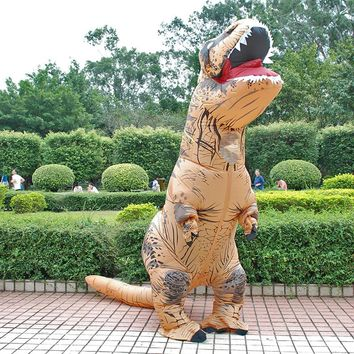 Adult INFLATABLE Dinosaur T REX Costume Blowup Costumes For Anime disfraces adultosHalloween Costumes for Men pikachu minions
