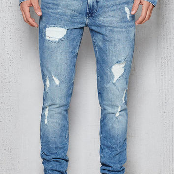 PacSun Skinny Destroyed Hiroshi Wash Stretch Jeans at PacSun.com