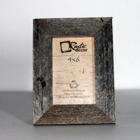 4x6 Picture Frames - Barnwood Reclaimed Wood Standard Photo Frame