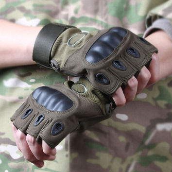 Green Anti-skidding Wear-resisting Tactical Cycling Glove