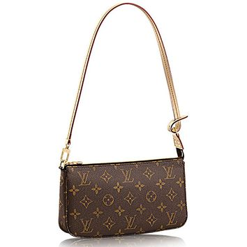 Louis Vuitton Monogram Canvas Shoulder Bag Clutch Handbag Pochette Accessoreis NM Article: M40712