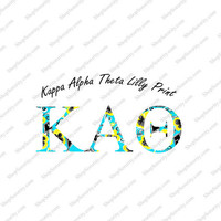 Kappa Alpha Theta Lilly Pulitzer Inspired sorority decals / stickers