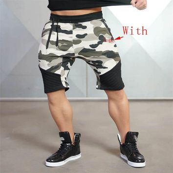 Summer NewMens Fitness Shorts Fashion Casual Gyms Bodybuilding Workout Male Calf-Length Short Pants Brand Sweatpants
