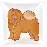 Chow Chow Pillow | Funny Dog Lover Cushion | The Jazzy Panda