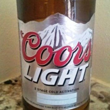 Coors Light Beer Bottle 100% Natural Soy Candle