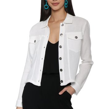 Jack Fringe Benefits Gauze Jacket