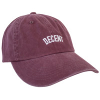 DECENT Dad Hat (MAROON) - Merchtable